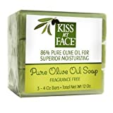 KISS MY FACE BAR SOAP,NAKED,OLIVE OIL, 3-4 OZ