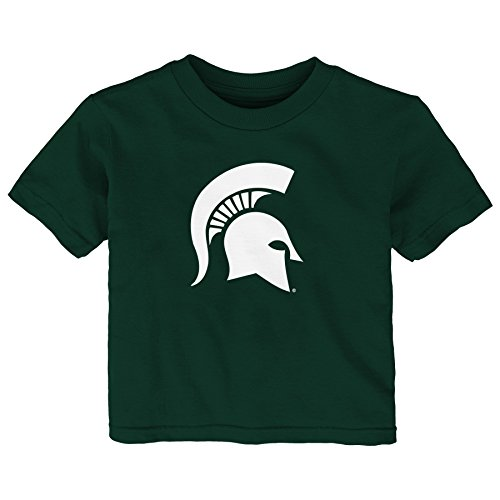 - NCAA Michigan State Spartans Infant Primary Logo Short Sleeve Tee, 12 Months, Hunter Green