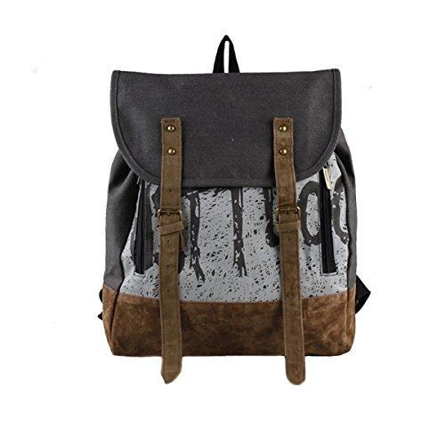 KYFW Beiläufiger Art-Segeltuch-Laptop-Rucksack-Schule-Beutel-Spielraum-Tagesbeutel-Handtasche,B-36*12*37cm-15-25L B-36*12*37cm-15-25L