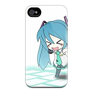 AnnaDubois Iphone 6 Durable Hard Phone Cover Customized High-definition Hatsune Miku Chibi Anime Girls Detached Sleeves Image [gAS15380SqMW]