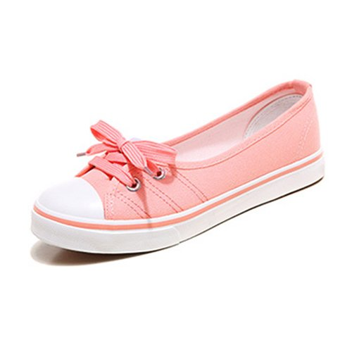 Shoes Shoes Casual Colored Ladies Espadrilles Breathable amp;G Bottomed Women's pink Shoes NGRDX Black Female Comfortable Sports Flat Light Vulcanized Canvas wqOIATP