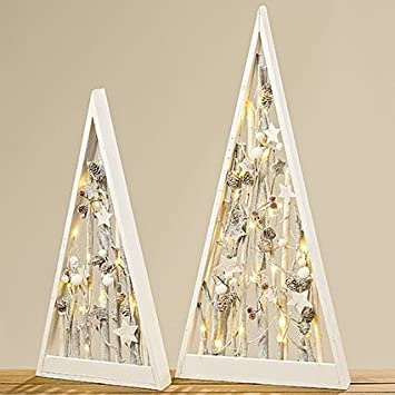 2-sort. LED-Objekt Aufsteller Weihnachten Deko modern Baum ...