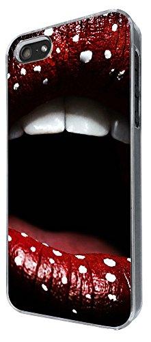741 - Cool Fun Hot Sexy Lips Design iphone 5 5S Coque Fashion Trend Case Coque Protection Cover plastique et métal