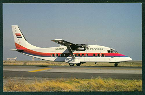 - United Express Airline Westair Holding Shorts 360 Jet Turboprop Aircraft Airplane Postcard