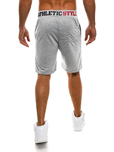 OZONEE Hombre Shorts Deportivos Jogg para Hombres Pantalones Cortos Bermudas Street Star 7126 WIM0X3
