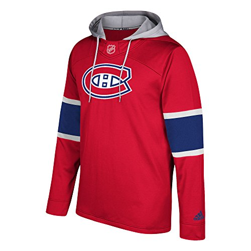 adidas NHL Montreal Canadiens Silver Jersey Hood, XX-Large, Crimson Red