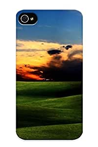 90573bc3975 New Premium Flip Case Cover Green Plains Skin Case For Iphone 4/4s As Christmas's Gift