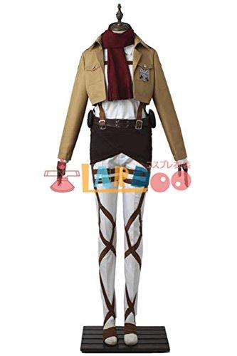 進撃の巨人 ミカサ アッカーマン 訓練兵団 マント付き コスプレ衣装 コスチューム cosplay