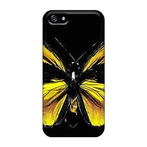 Iphone 5/5s Cgj7075EiCN Custom Colorful Butterfly Series Shock-Absorbing Hard Phone Case -AlissaDubois