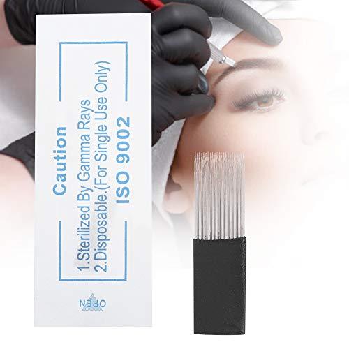 Tattoo needles 13/23 pcs, microblading semi permanent makeup needles, microblading round needles manual mist blades, double plate microblading tattoo needles manual blades(23 Pin)