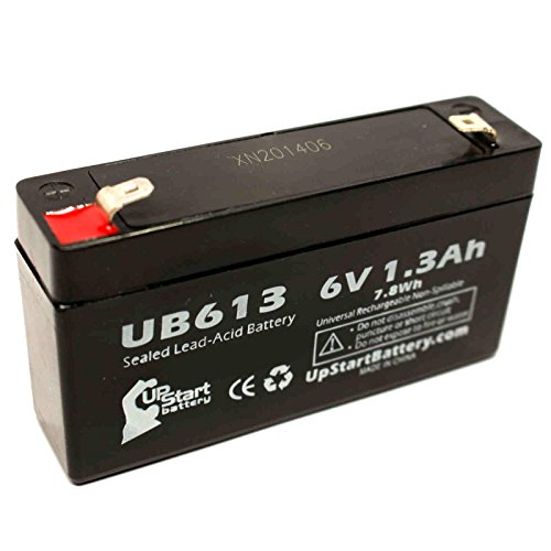 QUANTUM BANTAM Battery - Replacement UB613 Universal Sealed Lead Acid Battery (6V, 1.3Ah, 1300mAh, F1 Terminal, AGM, SLA) - Includes TWO F1 to F2 Terminal Adapters (Battery Quantum Bantam)