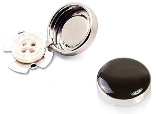 black-silver-button-covers-the-smart-alternative-to-cufflinks-for-regular-shirts