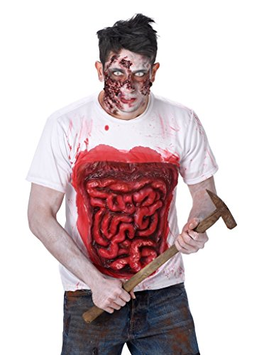 [Zombie Gory Guts T-shirt - Halloween Costume (M)] (Halloween Little Dead Riding Hood Costume)