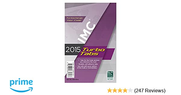 2015 International Mechanical Code Turbo Tabs for Soft Cover: International Code Council: 9781609835347: Amazon.com: Books