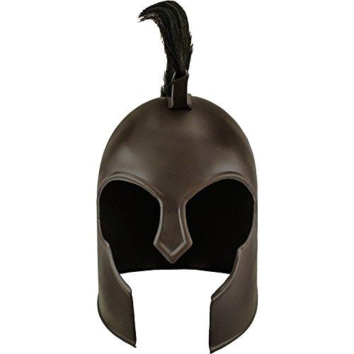 Roman Soldier Carbon Steel Helmet with Horse Hair Plume (Steel Roman Helmet)