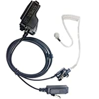 EmBest Covert Acoustic Tube Earpiece Headset Mic Compatible For Motorola Mtx838 . Mtx 900, Mtx960, Mtx 8000, Mtx9000 Mtx-Ls, Mtx-B5, Mtx-B7