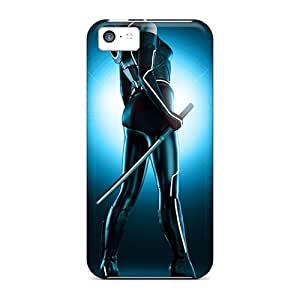 High Quality Shock Absorbing Case For Iphone 5c-olivia Wilde As Quorra Tron Legacy