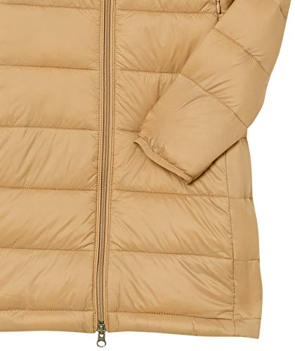 Amazon Essentials Women's Lightweight Long-Sleeve Full-Zip Water-Resistant Packable Hooded Puffer Coat