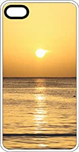 Golden Ocean Sunset White Rubber Case for Apple iPhone 5 or iPhone 5s