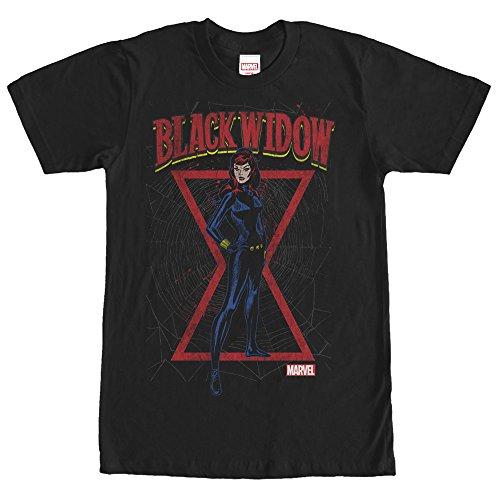 Black Widow Hourglass (Marvel Black Widow Red Hourglass Mens Graphic T)