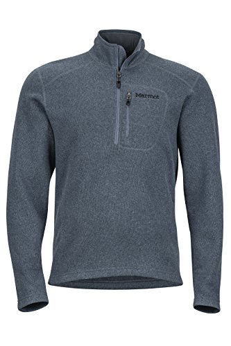 Marmot Drop Line 1/2 Zip Men's Pullover Jacket, Lightweight 100-Weight Sweater Fleece, Steel Onyx, Small (Mens Marmot Fleece)