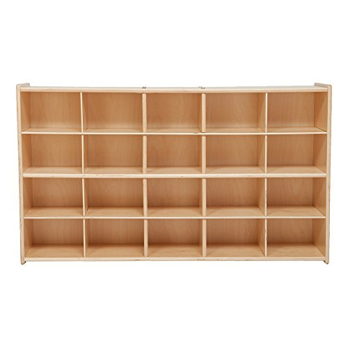 Sprogs 20-Tray Wooden Storage Unit - Unassembled, SPG-70930 20 Tray Cubby Storage