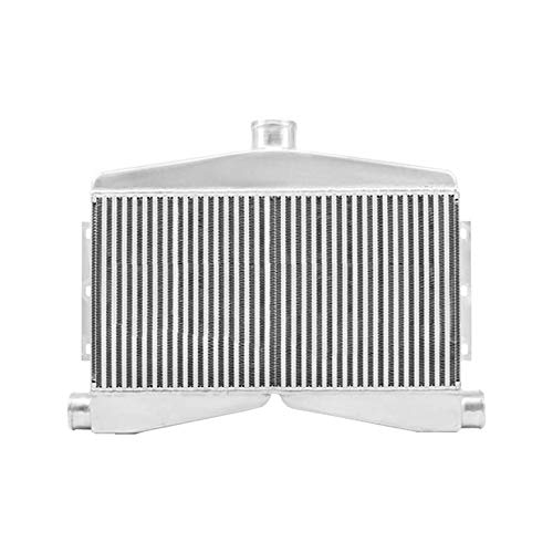(CXRacing 2-In-1-Out Twin Turbo Bar & Plate Intercooler 3.5