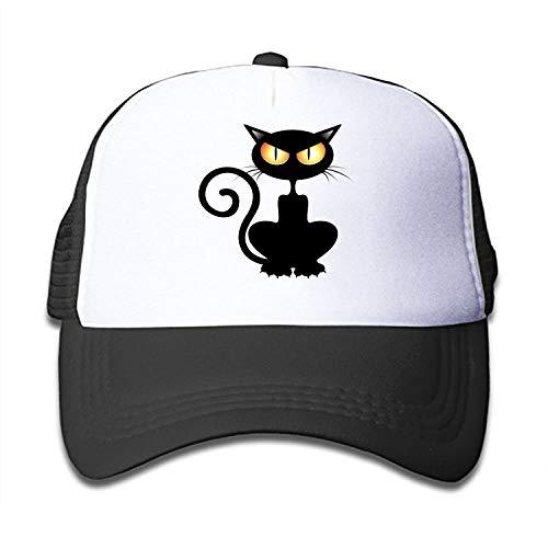 Halloween Black Cat Children's Sun Protection,Casual,Summer Baseball Adjustable Mesh Hat Cap -