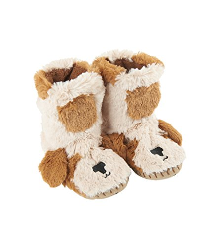 Little Blue House by Hatley Kids' Little Hi-top Slouch Animal Slipper, Puppy, Large (11-13) ()