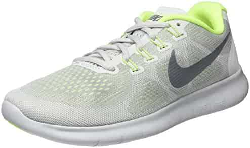 low priced 3207c 57198 Nike Womens Free Rn 2017 Low Top Lace Up Running Sneaker, White, Size 10.0