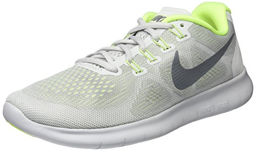 Nike Free RN 2017 Wolf Grey/Cool Grey/Pure Platinum/Volt Women's Running Shoes Size 8