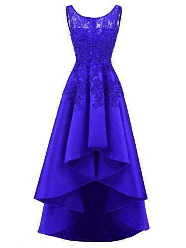 Fête Bal Asymétrique Bleu Roi Satin De Longue Jaeden Cocktail Soirée Robes YSpqwp