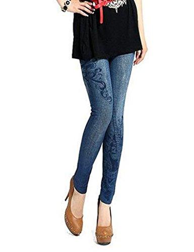 Bleu Pantalons Maillot Femme clair Denim Jeans Fine Bestgift q4tYwFXxt