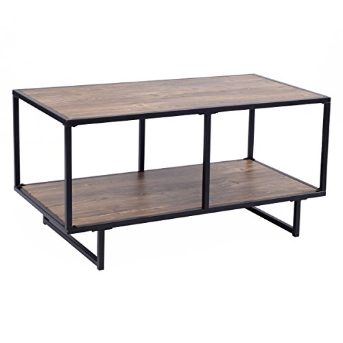 Tangkula TV Stand/Coffee Table Entertainment Center Media Console Metal Frame Home Furniture
