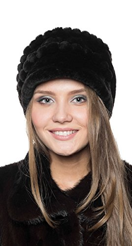 Elena Furs Mouton Sheepskin Russian Fur Hat - Made in Russia, New Brand ()