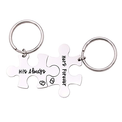 Melix Home His Always Her Forever Necklace Set / Keyring Set (Always-Forever-Keyrings) by Melix Home
