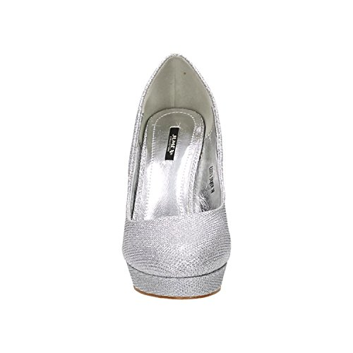 Argento con Of King Donna Scarpe Plateau Shoes FPwx1qY