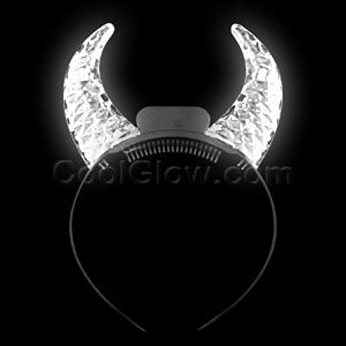 Fun Central O769 LED Clear Crystal Devil Horns