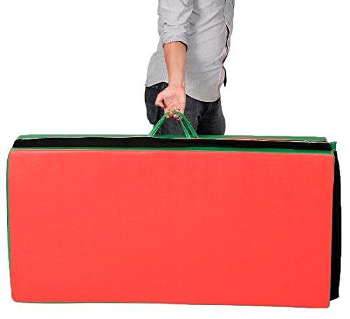 "K&A Company Folding Panel Gymnastics Gym Exercise Yoga Mat Fitness 4 Colors Multi Tumbling Thick Pad 4' x 8' x 2"""