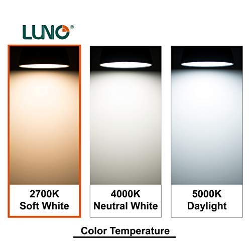 LUNO A19 Non-Dimmable LED Bulb, 14W (100W Equivalent), 1500 Lumens, 2700K (Soft White), Medium Base (E26), UL Certified (6-Pack)