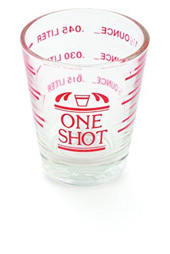Bullseye Measured Shot Glass by True - 0.5 Ounce Shot Glass