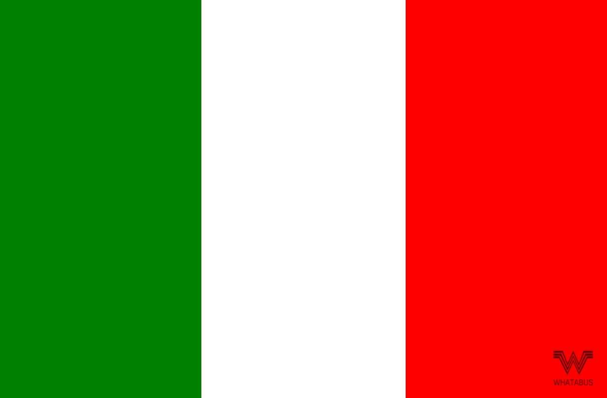 Whatabus Italien Flagge Aufkleber Länderflagge Als Sticker 8 5 X 5 5 Cm Auto