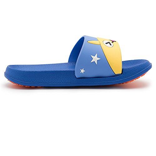 KENROLL Unisex Slippers Non-Slip Shoes Soft Shower Slide Beach and Pool Flip Flop Sandals for Men Women and Kids Navy Blue-k RkgzUj