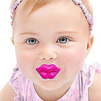 Amazon.com: Domccy - Chupete rosa con beso divertido para ...