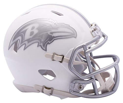 NFL Baltimore Ravens Riddell Ice Alternate Speed Mini Replica, Silver, Small by Riddell