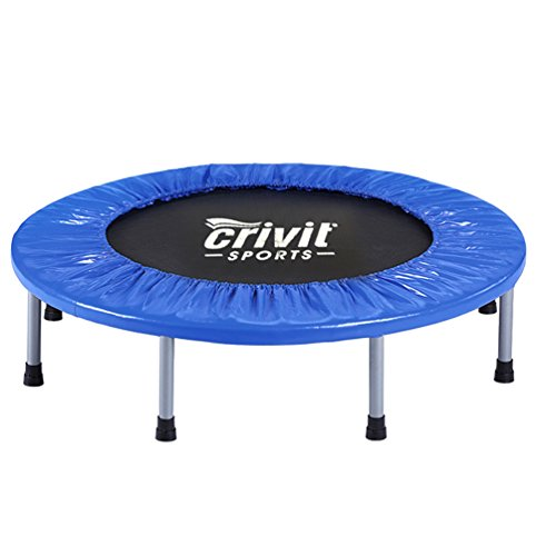 38'' Mini Rebounder Trampoline with Safety Padding & Springs Elastic Safe Outdoor Indoor Exercise Fitness Workout 8 legges Max Load 220 lbs for Kids Adult Body Exercise Training by Anqi