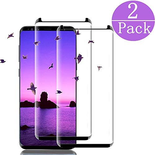 LuettBiden Compatible Samsung Galaxy S9 Plus Tempered Glass Screen Protector, LuettBiden [2 - Pack] 9H Hardness,Anti-Fingerprint,Ultra-Clear,Bubble Free Screen Protector for Galaxy S9 Plus