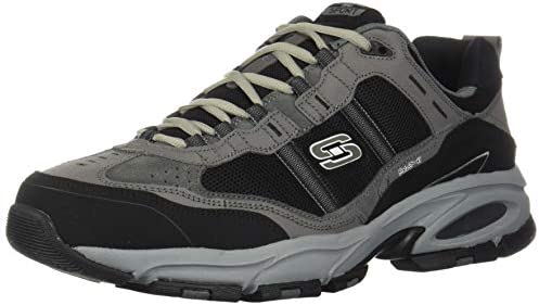 Skechers Vigor 2.0 Trait Men/'s Shoes Gray Athletic Casual Leather 51241 NEW