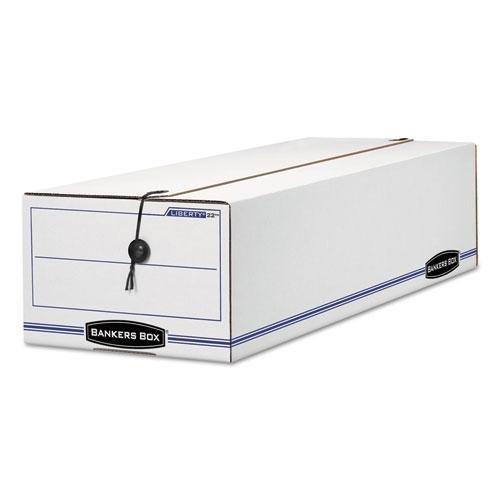 FELLOWES MANUFACTURING 18 Liberty Basic Storage Box, Record Form,8-3/4 x 23-3/4 x 7, White/Blue, 12/Carton