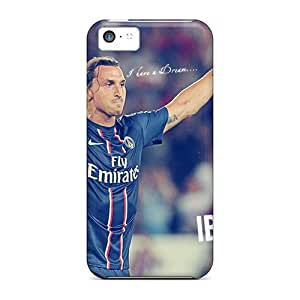 MEIMEIFlexible Tpu Back Case Cover For Iphone 5c - The Player Of Psg Zlatan Ibrahimovic After The VictoryMEIMEI